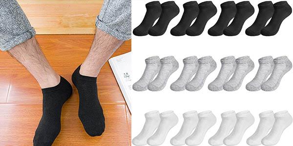 Pack de 12 pares de calcetines Rovtop tobilleros unisex en Amazon