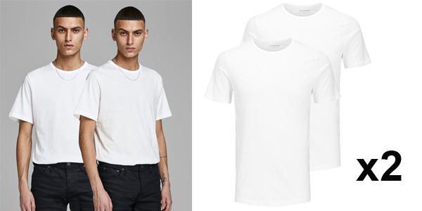 Pack x2 Camisetas básicas Jack & Jones para hombre baratas en Amazon