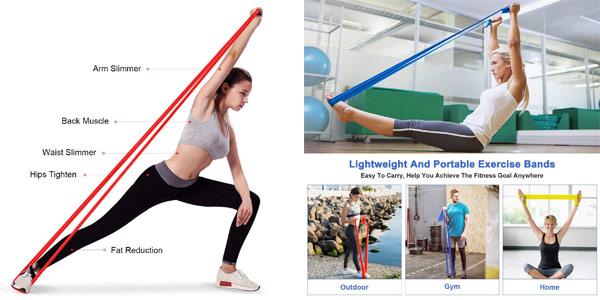 Pack x3 bandas elásticas fitness Omeril de 1.5M/2M chollo en Amazon