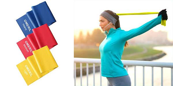 Pack x3 Bandas Elásticas Fitness Omeril de 1,5 m