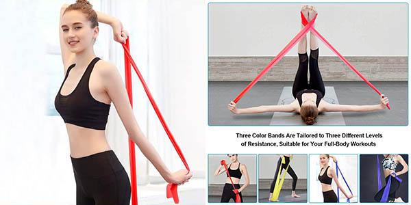 Pack x3 Bandas Elásticas Fitness Omeril de 1,5 m barato