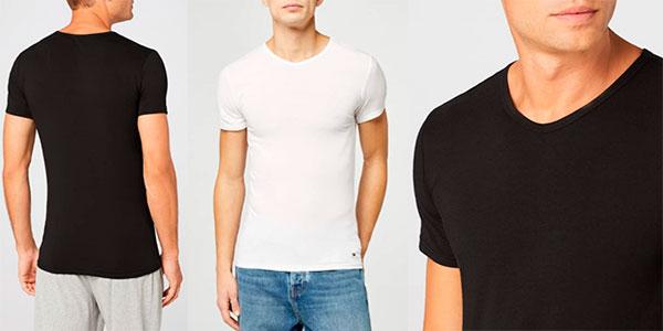 Pack de 3 camisetas Tommy Hilfiger con cuello de pico para hombre barato