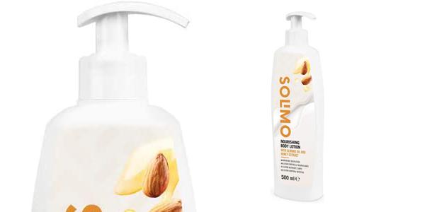 Pack x4 Loción corporal nutritiva Amazon Solimo con aceite de almendras y extracto de miel de 500 ml/ud chollo en Amazon
