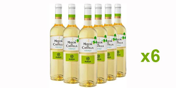 Pack x6 botellas vino blanco Mayor de Castilla Verdejo de 750 ml/ud barato en Amazon