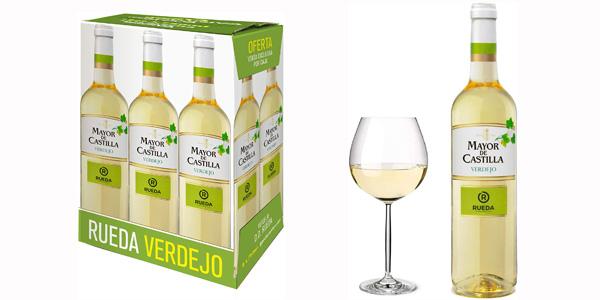 Pack x6 botellas vino blanco Mayor de Castilla Verdejo de 750 ml/ud chollo en Amazon