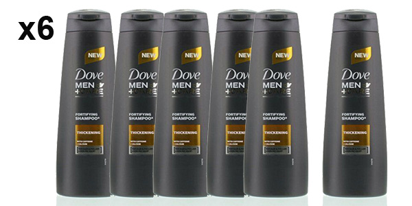 Pack x6 Champú vigorizante Dove Men Care Energy Boost de 250 ml/ud barato en Amazon