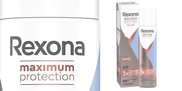 Pack x6 Desodorante Spray Rexona Clean Scent Maximum Protection de 100 ml/ud chollo en Amazon