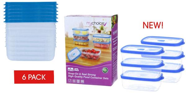 Pack x6 Recipientes MyChoice Snap-On & Seal de 1.000 ml/ud baratos en Amazon