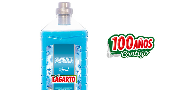 Pack x6 Lagarto Suavizante Azul Concentrado de 70 lavados/ud chollo en Amazon