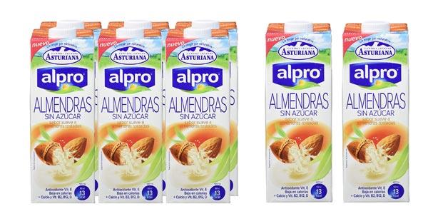 Pack x8 Bebida de Almendras Alpro Sin Azúcar de 1L/ud barato en Amazon