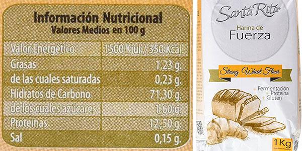 Pack de Harina de trigo de fuerza Santa Rita de 12 Kg en oferta