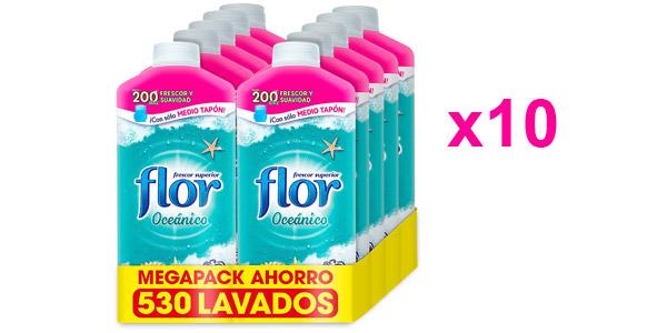 Pack x10 Suavizante concentrado Flor Oceánico 530 dosis barato en Amazon