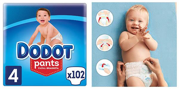Pack x102 Pañales Dodot Pants talla 4