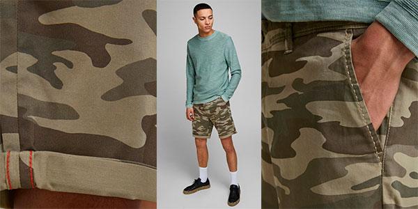 Pantalones cortos chinos Jack & Jones de camuflaje para hombre en oferta