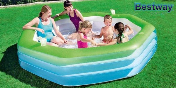 Piscina Hinchable Infantil Bestway Deluxe Octagon Family chollo en Amazon