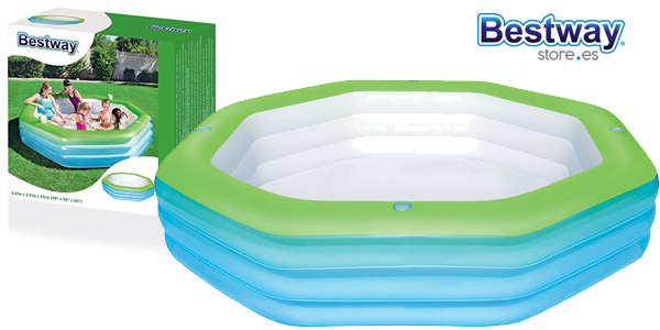 Piscina Hinchable Infantil Bestway Deluxe Octagon Family barata en Amazon