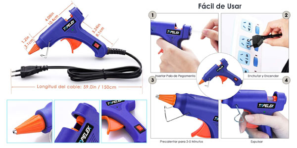 Pistola de silicona Topelek en oferta en Amazon
