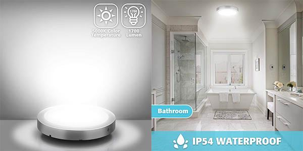 Plafón LED Elfeland de 18W en blanco natural o cálido barato