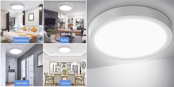 Plafón LED de techo Ousfot de 24W, 6000K y 2200LM barato en Amazon