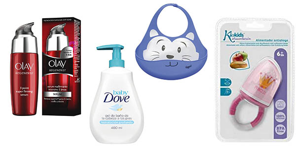 productos de supermercado e higiene infantil en promoción en Amazon