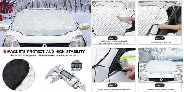 Parasol protector UV Ezlife para parabrisas de coche oferta en Amazon