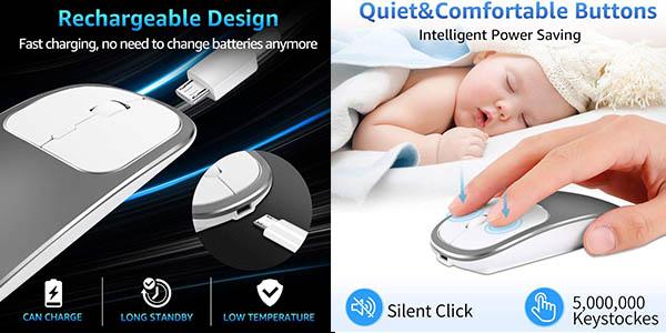 ratón inalámbrico Bluetooth Veeki oferta