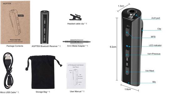 Receptor Bluetooth Jack 3,5 mm AGPTEK en oferta en Amazon