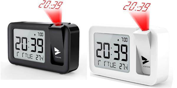 Reloj Despertador Digital Hosome con termómetro, proyector y snooze barato en Amazon