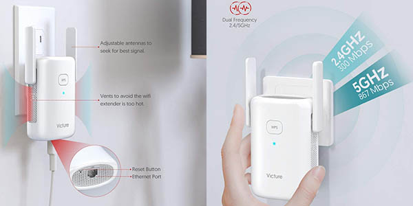 Repetidor WiFi Victure 1200 Mbps en Amazon