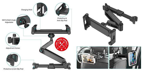 Sawake soporte para tableta y teléfono movil para el asiento del coche barato