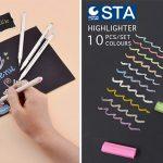 Comprar Set x10 Rotuladores tinta metalizada STA de colores baratos en Amazon
