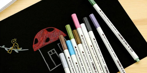 Comprar Set x10 Rotuladores tinta metalizada STA de colores oferta en Amazon