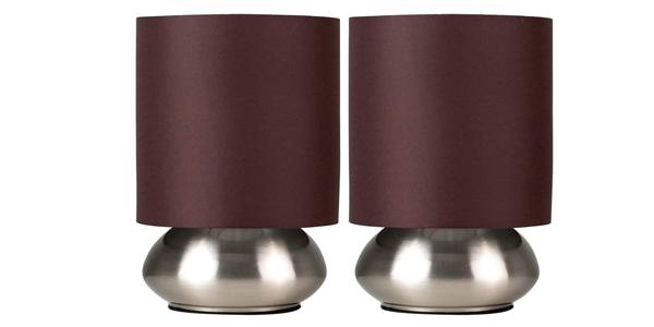 Set de 2 Lámparas de Mesa Táctiles Minisun baratas en Amazon