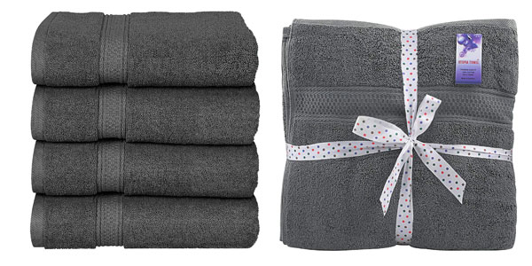 Set x4 Toallas de baño Utopia Towels barato en Amazon