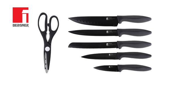 Set 5 cuchillos de cocina + tijeras Bergner Osaka chollo en Amazon