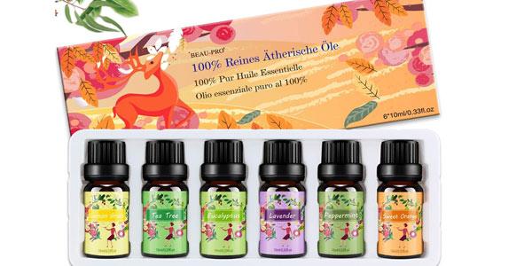 Set x6 aceites esenciales Isuda 100% Natural Aromaterapia barato en Amazon