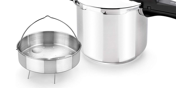 Set de ollas a presión Monix Tempo Duo de 4 + 7 L + Cestilo chollazo en Amazon