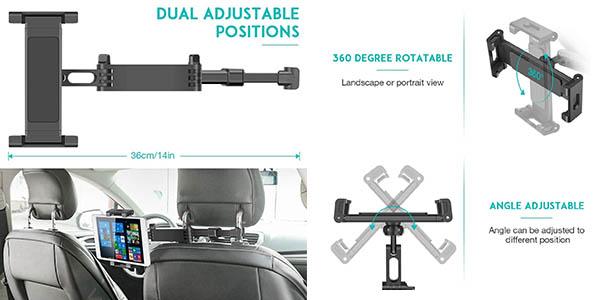 soporte Sawake para colocar el teléfono y la tableta en el asiento del coche chollo