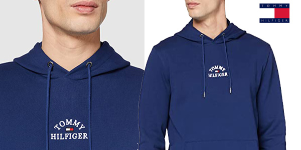 Sudadera con capucha Tommy Hilfiger Basic Embroidered Hoody para hombre chollo en Amazon
