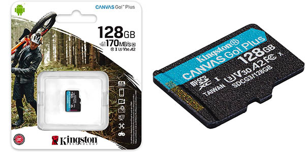 Tarjeta microSD Kingston Canvas Go Plus de 128 GB