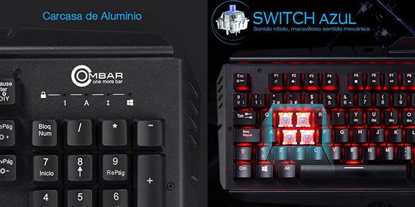 Teclado mecánico gaming Ombar en Amazon