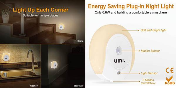 Umy by Amzon pack de luces quitamiedo con sensor de movimiento oferta
