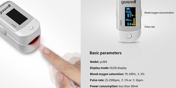 Yuwell oxímetro de dedo para medir el nivel de oxígeno en la sangre oferta