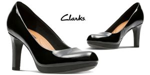 Zapatos de salón Clarks Adriel Viola para mujer baratos en Amazon