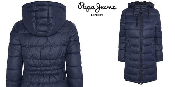 Abrigo largo Pepe Jeans Linna con capucha para mujer barato en Amazon