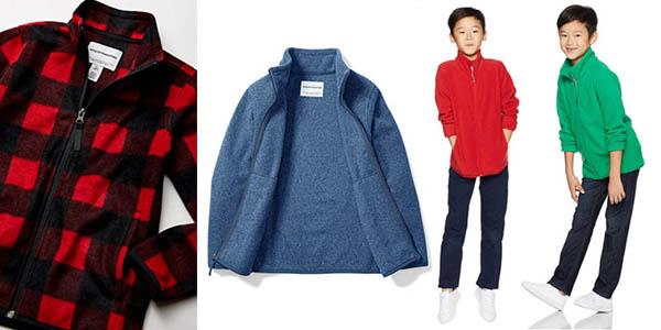 Amazon Essentials Boys Full Zip Polar Fleece polar infantil chollo