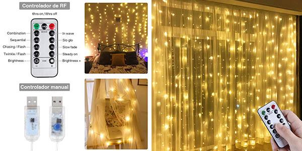 Anpro cortina de luz LED barata