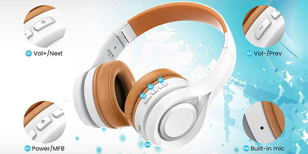 Auriculares de diadema inalámbricos Elegiant Bluetooth 5.0 baratos