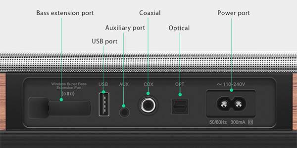 Barra de sonido BlitzWolf BW-SDB2 2.1 de 60W con Bluetooth