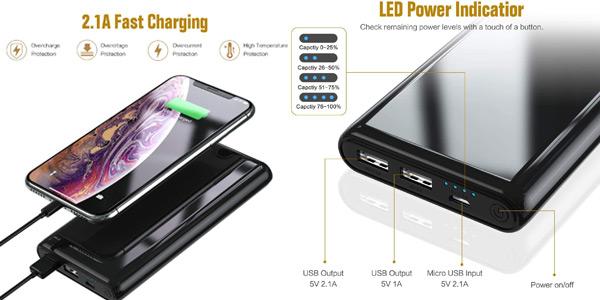 Batería externa Ekrist Power Bank de 25800 mAh chollo en Amazon
